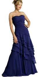 Buy Online Multi Layered Strapless Autumn Gown