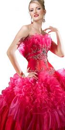 Ravishing Ruffled Ball Gown | Ball Gowns