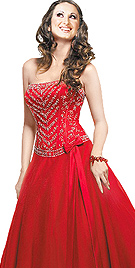 Sensuous Deeo Red Ball Gown