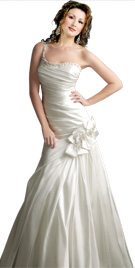 Fabulous One Shouldered Bridal Gown | Cheap Bridal Dresses