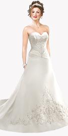Buy Unique Silk Taffeta Bridal Gown to capture Your Unique Moment