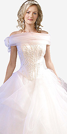 Magnificent Off Shoulder Bridal Ball Gown