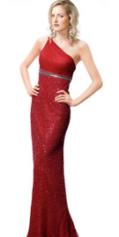 Red Evening Gown - Evening Dress