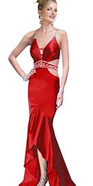 Ruffled Hem Designer Prom Dress