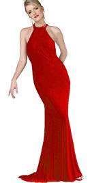 Beaded Fringed Designer Gown