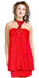 Bubble Hem Short Valentines Day Dress | Valentines Day Dress Collection 2010