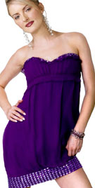 Sweetheart Neckline Strapless Valentines Dress