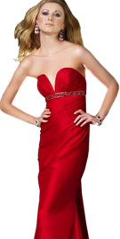 Daring Strapless Sequined Sheath