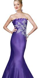 Strapless Valentines Mermaid Gown