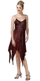 This V-neckline Sexy Cocktail Dress With Scattered crystal beading