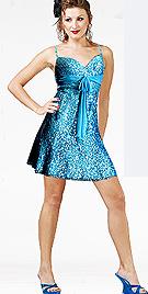 Beaded Chiffon Equip Cocktail Dress