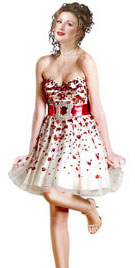 Christmas Dresses | Short Sweetheart Neckline Christmas Dress