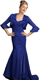 Beautifully Designed Long Bolero Evening Gown