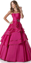 Strapless Christmas Party Dress