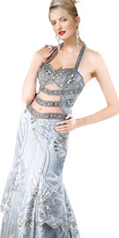 Beaded Halter Carnival Gown   Carnival Costumes