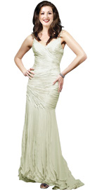 Thin Spaghetti Strapped Easter Gown   Easter Gowns