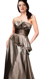 Stunning Satin Frilled Tube Gown