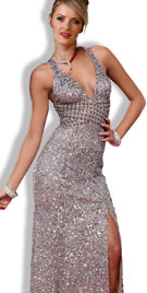 Flashy Red Carpet Evening Gown