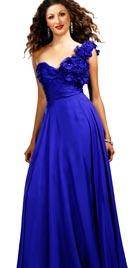 Rosette Evening Gown