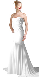Ooze glamour and magical splendor in this silk chiffon evening dress