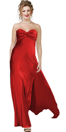 Satin ruched sweetheart evening dress