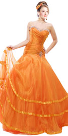 Princess Strapless Fall Dress|Princess Dress