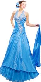 Halter Fall Gown|Fall Dress