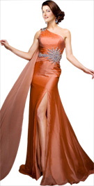 Opulent One Shoulder Fall Gown | Fall Collection 2010