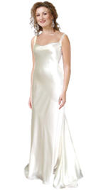 Silk Satin Cast Its Spell This Fall,Elegant Draped Neckline Accented with thin straps