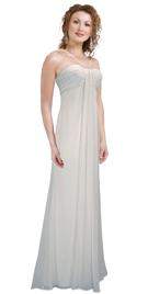 Rich silk Chiffon Fall Evening Gown