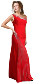 Why Not Drape Something Really Exceptional Like this satin fall gown?
