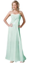 Silk Chiffon Twist Ruching Formal Gown