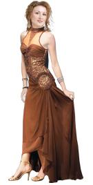 Necklace Beaded Silk Chiffon Evening Dress