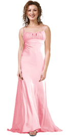 Satin Empire Style Evening Gown