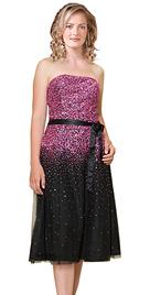 Embellished Knee-length Party Dress