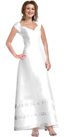 Matte Satin Formal A-line Dress