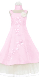 Prominent Three Layered Flower Girl Dress