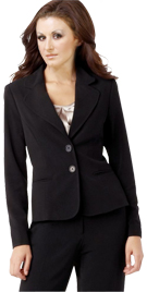 Womens Notch Collar Pant Suit | Ladies Office Pant Suit