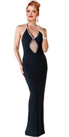 Bejeweled confection in velvet dress