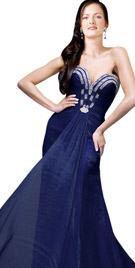 Supremely Stylish Brooch Studded Gown