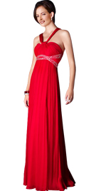 Halter Strapped Evening Dress | Evening Wear