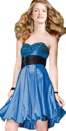 Sweetheart Neckline Balloon Dress