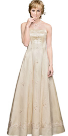 Cheap Floral Bead Work Mother Of The Bride Dress
