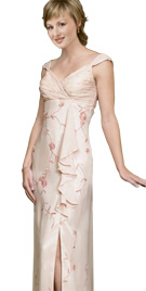 Beautiful Cascading Ruffle Mother Of The Bride Dress