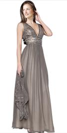 Deep V Mother Of Bride Gown