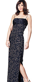 New Bedazing-Beaded Sheath Prom Gown
