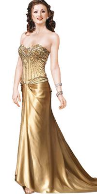 Romantic Criss cross chiffon with net gown