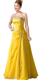 New Strapless Masterpiece Designer Dress