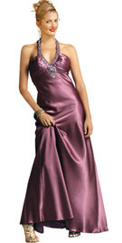 New Glamorous Satin Evening Halter