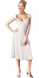 New Wide-Open Neckline Daytime Dress